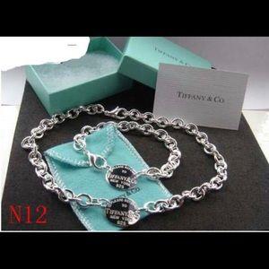 Tiffany style silver set